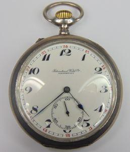 poche en argent montre International Watch Co. fin '800