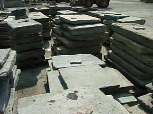 ancien pavé allée Lombard granit