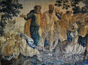 Tapisserie de la manufacture de Bruxelles, Moïse quitte la mer Rouge, cm. 280 x 360