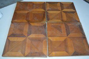 Tapis carreaux vieux bois