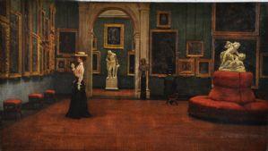 Andrea Becchi (Carpi, 15 novembre 1849 - Modène, 1926) La Galleria Estense