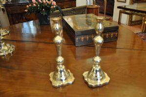 chandeliers d'argent
