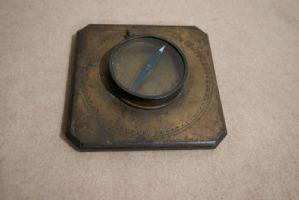 Rare et importante boussole en laiton, fonctionnant au XVIIIe siècle