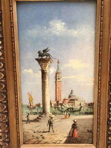Magnifique peinture à l'huile sur panneau signée MARCO GRUBACS