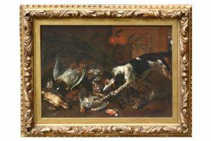 Nature morte avec chat et chien