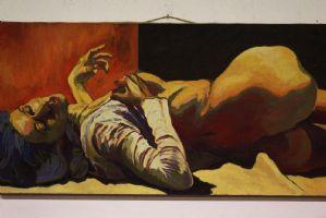 Peinture / peinture à l'huile sur toile signée toile sujet féminin Nicholas Canu