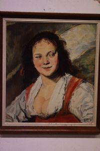 Huile à bord d'une copie de « Forest » par Frans Hall signée peinture encadrée