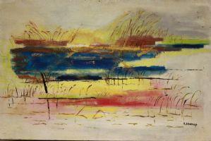 Peinture à l'huile sur toile représentant l'huile de peinture abstraite sur toile sujet