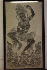dessin Quadro et papier calque sur le verre et la déesse divinité de dessin de cadre