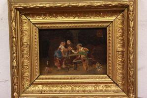 Peinture à l'huile sur toile représentant divers sujets peinture à l'huile sur toile