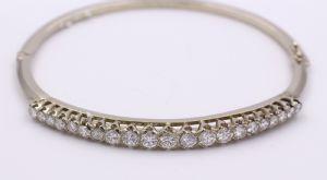 Bracelet en or blanc 18 carats avec taille brillant gdiamanti 1,7 Total KT.