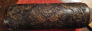 Beau bois et le rouleau en laiton pour les tapisseries d'impression