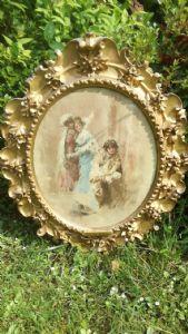 Tranquillo Cremona Pavia 1837 Milano 1878 Acquarello figure femminili e ragazzo