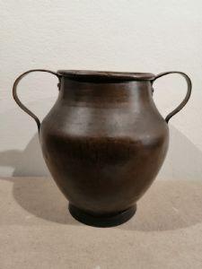 Vase en cuivre double couche fin XVIIIe