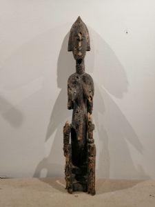 Scultura femminile lignea arte Bambara Mali fine XIX secolo - mancanze