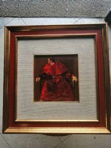 Angelo Tassi (Bologne, 9 octobre 1937) portrait d'un Cardinal - signé