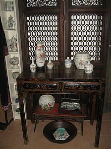 Laqué chinois table-consoles