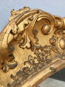 Antico dipinto olio su Carta Vergine in preghiera epoca metà 800 scuola italiana . in cornice coeva cm 59 x cm 72