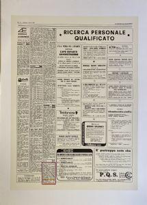 MARCANCIEL STUPRO 'C / O CLAUDIO CINTOLI sérigraphie sur papier