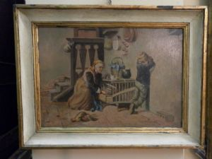 """Peinture """"grand-mère avec enfant"""""""