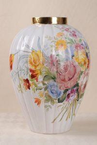 Vase en céramique peint Zaccagnini italien