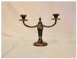 Candélabre Art Déco en bronze jaspé, XXe siècle