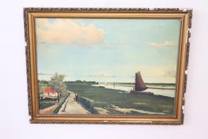 peinture antique photo avec cadre signé par T Boers début des années 1900. XX euro 450 négociable