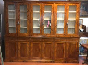 Ancienne bibliothèque première moitié de 1800 en noyer