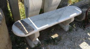 Panchina in marmo di Carrara