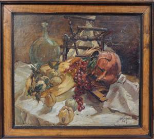 """Ugo Lucerni (Parme, 1900-Florence, 1989) """"Nature morte"""""""