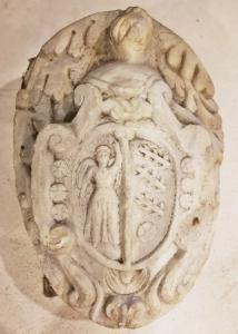 Effigie de marbre noble XVI-XVII siècle 58x45x22