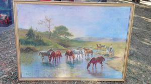 Cadre avec chevaux