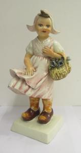 Figurine en porcelaine bimba olandesina - 50 ans - signé Mollica -perfetta