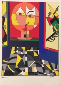 Ugo Nespolo - Klee - Sérigraphie polymathique signée et numérotée.