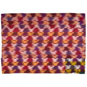 Panneau de soie IKAT ancien de l'Ouzbékistan