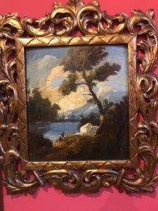 Peintures de paysage de couple. 19ème siècle
