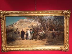 dipinto olio su tela cm 48 x 91