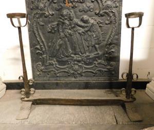 al210 - paire d'ailes reliées par une barre, XVIIIe siècle, cm 84 xh 66