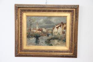 Peinture antique d'Eugenio Gignous (1850-1906) peintre milanais du XIXe siècle PRIX NÉGOCIABLE