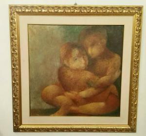 Peinture À L'huile Sur Toile Sebastiano Sanguigni (Enfance)