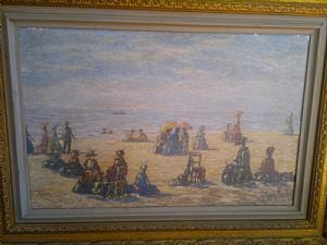 scène galante sur la plage