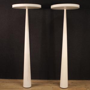 Paire de lampes italiennes en métal