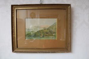 """Peinture, """"Lac de Côme"""""""