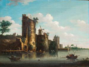 Vue de la ville de Flushing, XVIIIe siècle