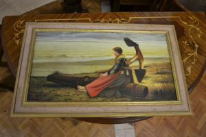 Femme de plage peinte