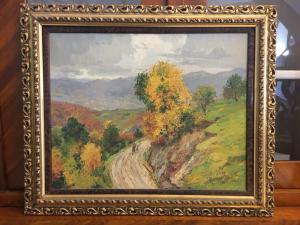 Amedeo Merello (1890-1979) peinture à l'huile