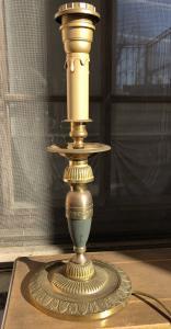 chandelier en bronze doré