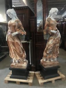 Statues en marbre pour couples 50x35x190h