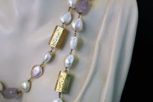 Collier de perles et améthystes Chanel (KLIMT)