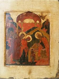 Jésus présenté à Saint Siméon - Icône russe fin XVIIIe siècle
